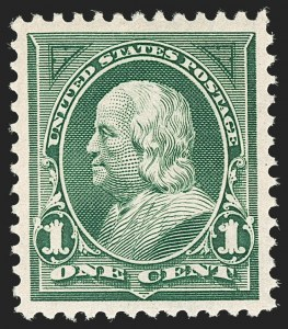 Sale Number 1199, Lot Number 1376, 1897-1903 Change of Colors (Scott 279-284)1c Deep Green (279), 1c Deep Green (279)