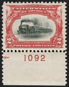 Sale Number 1199, Lot Number 1402, 1901 Pan-American Issue (Scott 294-299)2c Pan-American (295), 2c Pan-American (295)
