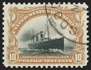 Sale Number 1199, Lot Number 1406, 1901 Pan-American Issue (Scott 294-299)10c Pan-American (299), 10c Pan-American (299)