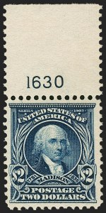 Sale Number 1199, Lot Number 1411, 1902-08 Issues (Scott 300-320)$2.00 Dark Blue (312), $2.00 Dark Blue (312)