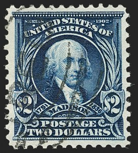 Sale Number 1199, Lot Number 1414, 1902-08 Issues (Scott 300-320)$2.00 Dark Blue (312), $2.00 Dark Blue (312)
