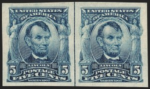 Sale Number 1199, Lot Number 1416, 1902-08 Issues (Scott 300-320)5c Blue, Imperforate (315), 5c Blue, Imperforate (315)