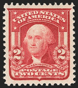 Sale Number 1199, Lot Number 1418, 1902-08 Issues (Scott 300-320)2c Carmine, Ty. I (319), 2c Carmine, Ty. I (319)
