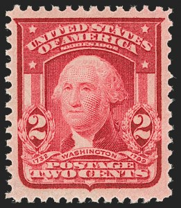 Sale Number 1199, Lot Number 1423, 1902-08 Issues (Scott 300-320)2c Carmine Rose, Ty. II (319Fj; formerly 319j), 2c Carmine Rose, Ty. II (319Fj; formerly 319j)