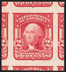 Sale Number 1199, Lot Number 1424, 1902-08 Issues (Scott 300-320)2c Carmine, Ty. I, Imperforate (320), 2c Carmine, Ty. I, Imperforate (320)