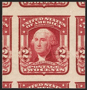 Sale Number 1199, Lot Number 1425, 1902-08 Issues (Scott 300-320)2c Lake, Ty. II, Imperforate (320A; formerly 320a), 2c Lake, Ty. II, Imperforate (320A; formerly 320a)