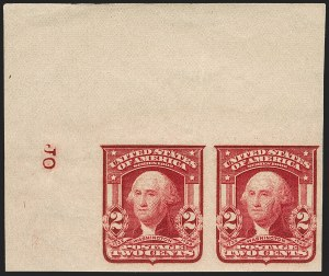 Sale Number 1199, Lot Number 1426, 1902-08 Issues (Scott 300-320)2c Lake, Ty. II, Imperforate (320A; formerly 320a), 2c Lake, Ty. II, Imperforate (320A; formerly 320a)
