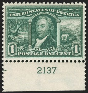 Sale Number 1199, Lot Number 1430, 1904 Louisiana Purchase Issue (Scott 323-327)1c Louisiana Purchase (323), 1c Louisiana Purchase (323)