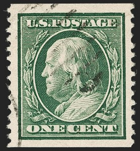 Sale Number 1199, Lot Number 1442, 1908-10 Washington-Franklin Issues (Scott 331-356)1c Green, Coil (352), 1c Green, Coil (352)