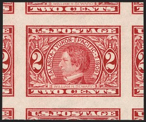 Sale Number 1199, Lot Number 1447, 1909 Commemorative Issues (Scott 367-373)2c Alaska-Yukon, Imperforate (371), 2c Alaska-Yukon, Imperforate (371)