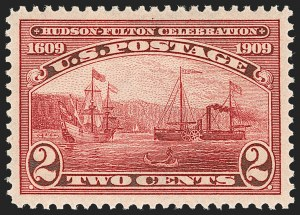 Sale Number 1199, Lot Number 1448, 1909 Commemorative Issues (Scott 367-373)2c Hudson-Fulton (372), 2c Hudson-Fulton (372)