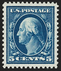 Sale Number 1199, Lot Number 1450, 1910-13 Washington-Franklin Issue (Scott 374-396)5c Blue (378), 5c Blue (378)
