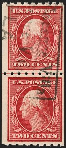 Sale Number 1199, Lot Number 1453, 1910-13 Washington-Franklin Issue (Scott 374-396)2c Carmine, Coil (391), 2c Carmine, Coil (391)