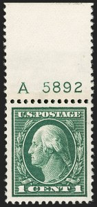 Sale Number 1199, Lot Number 1462, 1912-15 Washington-Franklin Issue (Scott 405-461)1c Green (405), 1c Green (405)