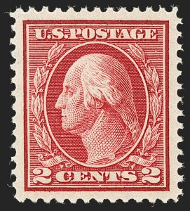 Sale Number 1199, Lot Number 1463, 1912-15 Washington-Franklin Issue (Scott 405-461)2c Carmine (406), 2c Carmine (406)