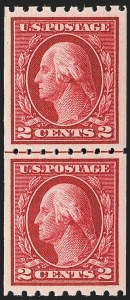 Sale Number 1199, Lot Number 1464, 1912-15 Washington-Franklin Issue (Scott 405-461)2c Carmine, Coil (411), 2c Carmine, Coil (411)