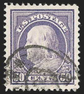 Sale Number 1199, Lot Number 1466, 1912-15 Washington-Franklin Issue (Scott 405-461)50c Violet (421), 50c Violet (421)