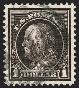Sale Number 1199, Lot Number 1468, 1912-15 Washington-Franklin Issue (Scott 405-461)$1.00 Violet Brown (423), $1.00 Violet Brown (423)