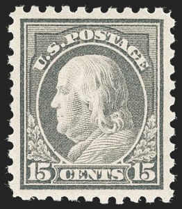 Sale Number 1199, Lot Number 1472, 1912-15 Washington-Franklin Issue (Scott 405-461)15c Gray (437), 15c Gray (437)