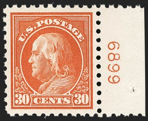 Sale Number 1199, Lot Number 1473, 1912-15 Washington-Franklin Issue (Scott 405-461)30c Orange Red (439), 30c Orange Red (439)