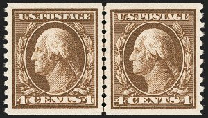 Sale Number 1199, Lot Number 1476, 1912-15 Washington-Franklin Issue (Scott 405-461)4c Brown, Coil (446), 4c Brown, Coil (446)