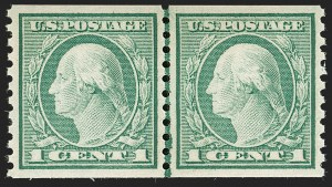 Sale Number 1199, Lot Number 1481, 1912-15 Washington-Franklin Issue (Scott 405-461)1c Green, Coil (452), 1c Green, Coil (452)