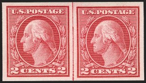 Sale Number 1199, Lot Number 1485, 1912-15 Washington-Franklin Issue (Scott 405-461)2c Carmine, Ty. I, Imperforate Coil (459), 2c Carmine, Ty. I, Imperforate Coil (459)