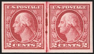 Sale Number 1199, Lot Number 1486, 1912-15 Washington-Franklin Issue (Scott 405-461)2c Carmine, Ty. I, Imperforate Coil (459), 2c Carmine, Ty. I, Imperforate Coil (459)