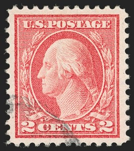 Sale Number 1199, Lot Number 1489, 1912-15 Washington-Franklin Issue (Scott 405-461)2c Pale Carmine Red, Ty. I (461), 2c Pale Carmine Red, Ty. I (461)