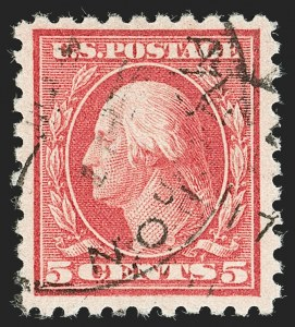 Sale Number 1199, Lot Number 1490, 1916-17 Issues (Scott 462-518)5c Carmine, Error (467), 5c Carmine, Error (467)