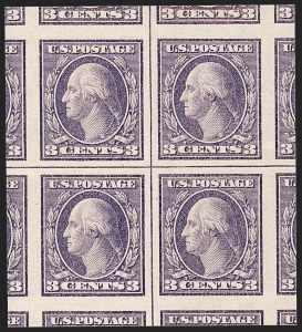 Sale Number 1199, Lot Number 1493, 1916-17 Issues (Scott 462-518)3c Violet, Ty. II, Imperforate (484), 3c Violet, Ty. II, Imperforate (484)