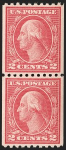 Sale Number 1199, Lot Number 1494, 1916-17 Issues (Scott 462-518)2c Carmine, Ty. III, Coil (488), 2c Carmine, Ty. III, Coil (488)