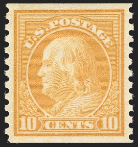 Sale Number 1199, Lot Number 1497, 1916-17 Issues (Scott 462-518)10c Orange Yellow, Coil (497), 10c Orange Yellow, Coil (497)