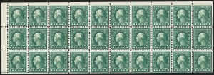 Sale Number 1199, Lot Number 1498, 1916-17 Issues (Scott 462-518)1c Green, A.E.F. Booklet Pane (498f), 1c Green, A.E.F. Booklet Pane (498f)