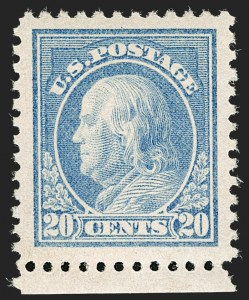 Sale Number 1199, Lot Number 1501, 1916-17 Issues (Scott 462-518)20c Light Ultramarine (515), 20c Light Ultramarine (515)