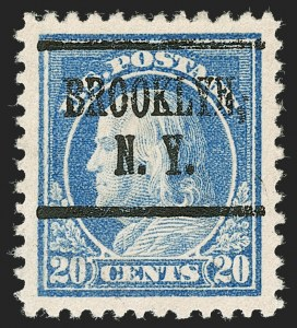 Sale Number 1199, Lot Number 1502, 1916-17 Issues (Scott 462-518)20c Light Ultramarine (515), 20c Light Ultramarine (515)