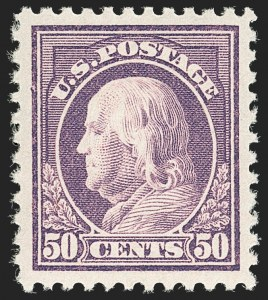 Sale Number 1199, Lot Number 1504, 1916-17 Issues (Scott 462-518)50c Red Violet (517), 50c Red Violet (517)