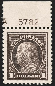 Sale Number 1199, Lot Number 1506, 1916-17 Issues (Scott 462-518)$1.00 Violet Brown (518), $1.00 Violet Brown (518)