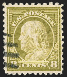 Sale Number 1199, Lot Number 1509, Per 10 on One Side Rarities8c Olive Bister, Perf 10 at Top (508c), 8c Olive Bister, Perf 10 at Top (508c)