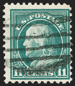 Sale Number 1199, Lot Number 1512, Per 10 on One Side Rarities11c Light Green, Perf 10 at Bottom (511a), 11c Light Green, Perf 10 at Bottom (511a)