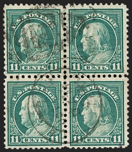 Sale Number 1199, Lot Number 1513, Per 10 on One Side Rarities11c Light Green, Perf 10 at Top and Bottom, Transitional 10/11 Perfs at Top and Bottom (511a), 11c Light Green, Perf 10 at Top and Bottom, Transitional 10/11 Perfs at Top and Bottom (511a)