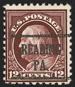 Sale Number 1199, Lot Number 1514, Per 10 on One Side Rarities12c Claret Brown, Perf 10 at Bottom (512b), 12c Claret Brown, Perf 10 at Bottom (512b)