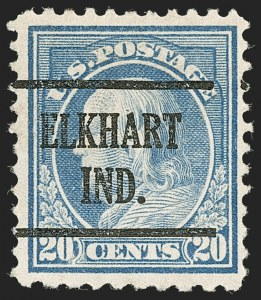 Sale Number 1199, Lot Number 1515, Per 10 on One Side Rarities20c Light Ultramarine, Perf 10 at Bottom (515d), 20c Light Ultramarine, Perf 10 at Bottom (515d)