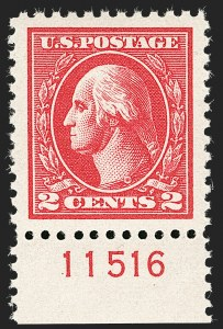 Sale Number 1199, Lot Number 1522, 1917-20 Issues (Scott 519-547)2c Carmine, Ty. Va (528), 2c Carmine, Ty. Va (528)