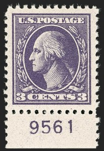 Sale Number 1199, Lot Number 1524, 1917-20 Issues (Scott 519-547)3c Purple, Ty. IV (530), 3c Purple, Ty. IV (530)