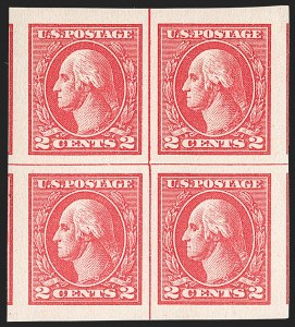 Sale Number 1199, Lot Number 1527, 1917-20 Issues (Scott 519-547)2c Carmine Rose, Ty. IV, Imperforate 2c Carmine, Ty. Va, Imperforate (532, 534), 2c Carmine Rose, Ty. IV, Imperforate 2c Carmine, Ty. Va, Imperforate (532, 534)