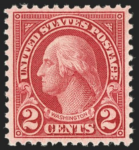 Sale Number 1199, Lot Number 1544, 1922-29 and Later Issues2c Carmine, Rotary, Perf 11 (595), 2c Carmine, Rotary, Perf 11 (595)