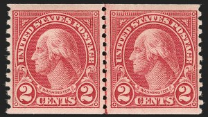 Sale Number 1199, Lot Number 1547, 1922-29 and Later Issues2c Carmine, Ty. II, Coil (599A), 2c Carmine, Ty. II, Coil (599A)