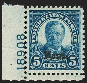 Sale Number 1199, Lot Number 1551, 1922-29 and Later Issues5c Kans. Ovpt. (663), 5c Kans. Ovpt. (663)