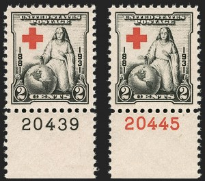 Sale Number 1199, Lot Number 1553, 1922-29 and Later Issues2c Red Cross (702), 2c Red Cross (702)